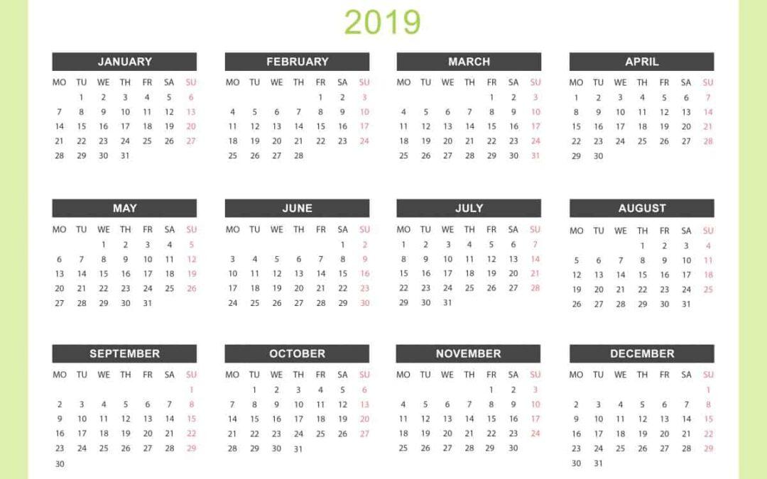 Yearly-Calendar-2019